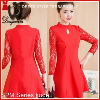 9SPM Dress Korea Ding Merah Hati Model Korea Bj5009