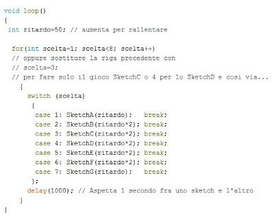 Fig.3 - Nuovo modulo loop() per gli skecth di Paolo Luongo