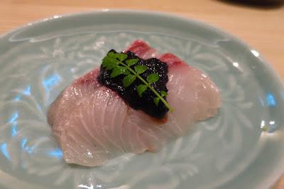 Kyoten Japanese Cuisine, kanpachi seaweed sauce