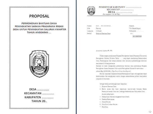 Contoh Proposal Saluran Irigasi lengkap dengan desain RAB