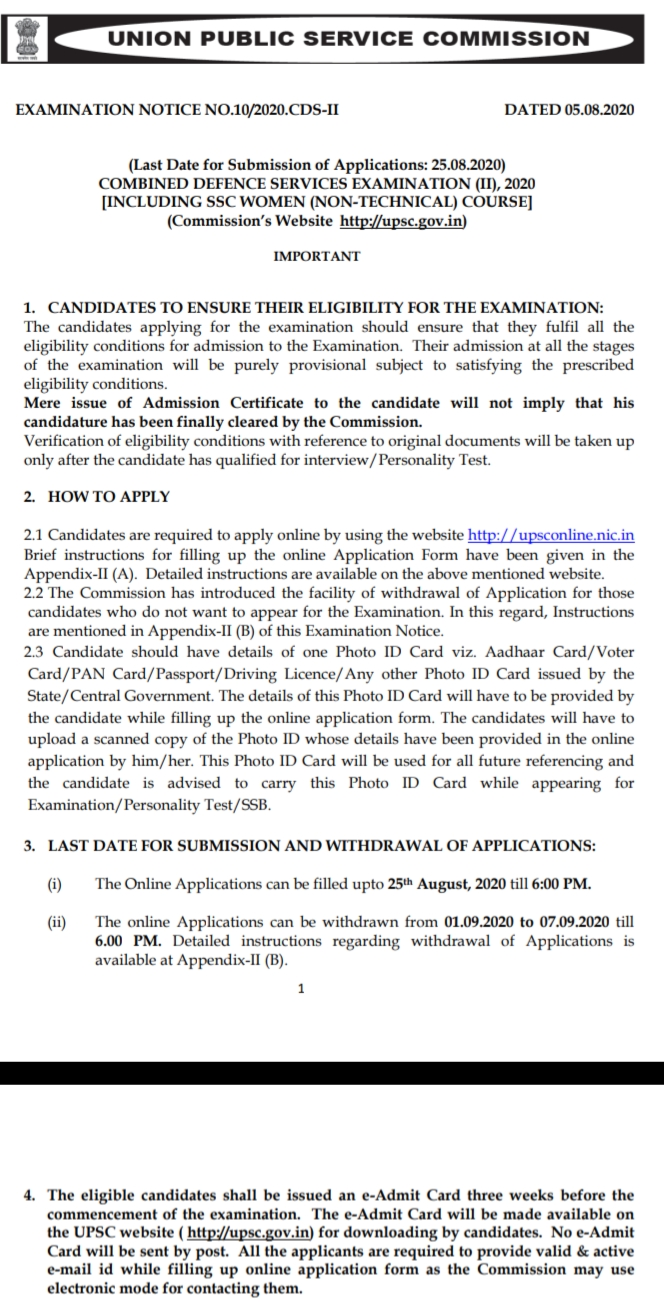 COMBINED DEFENCE SERVICES EXAMINATION (II), 2020  [INCLUDING SSC WOMEN (NON-TECHNICAL) COURSE],Jobs, CDS Recruitment, Union Public Service Commission Recruitment, Defence Jobs, government jobs,cds exam syllabus  cds exam eligibility  cds exam 2020  cds exam date 2020  cds exam pattern  cds exam full form  cds exam pattern 2020  cds exam 2021  cds salary  economics syllabus for cds exam  cds exam result date  upsc cds 2020