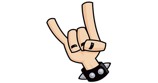 Rock On Symbol Symbols Amp Emoticons