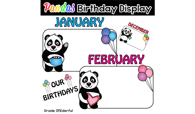 Panda Bear Birthday Display