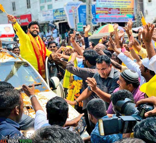 Ram Mohan Naidu in his car