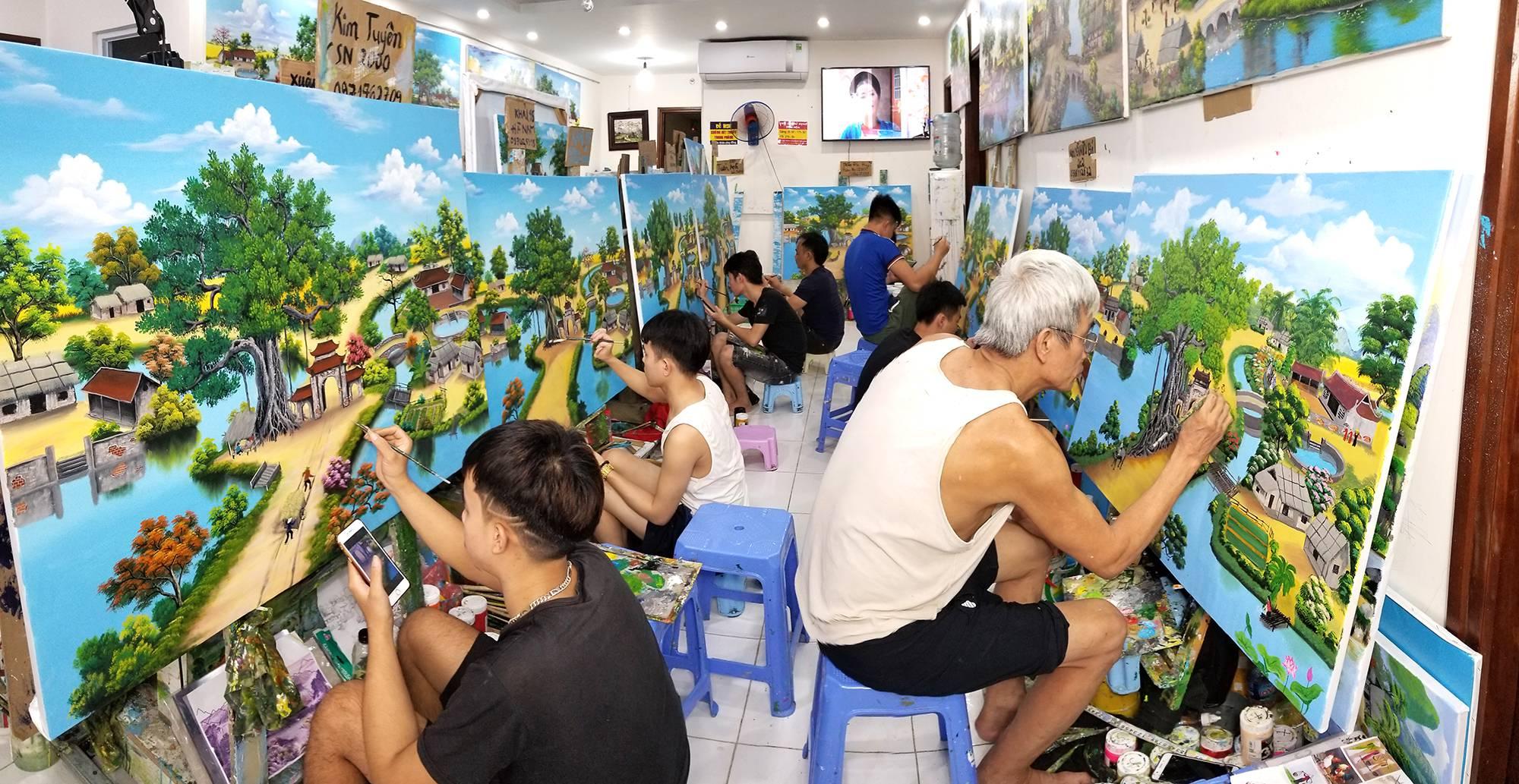 học vẽ tranh tường online, mỹ thuật việt