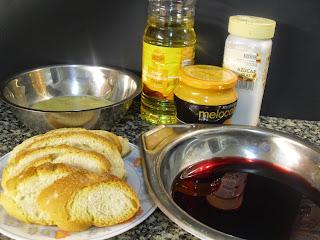 Ingredientes para hacer torrijas.