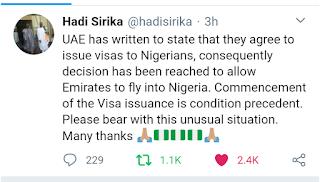 UAE Lifts Visa Ban On Nigerians