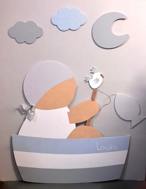 siluetas infantiles para decorar pared