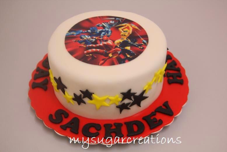 Power Ranger Birthday Cakes Uk