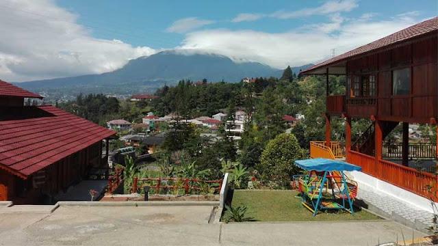 Pemandangan yang indah di villa