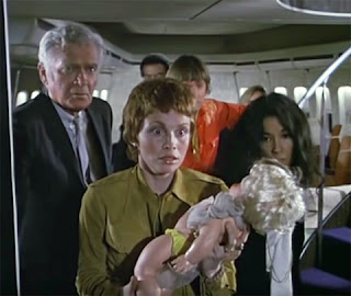 Buddy Ebsen, Lynn Loring and France Nuyen in The Horror at 37,000 Feet (1973)
