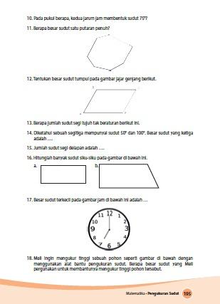 kunci jawaban buku siswa senang belajar matematika kelas 4 kurikulum 2013 revisi 2018 halaman 195