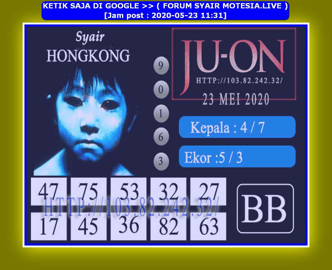 Kode syair Hongkong Sabtu 23 Mei 2020 144