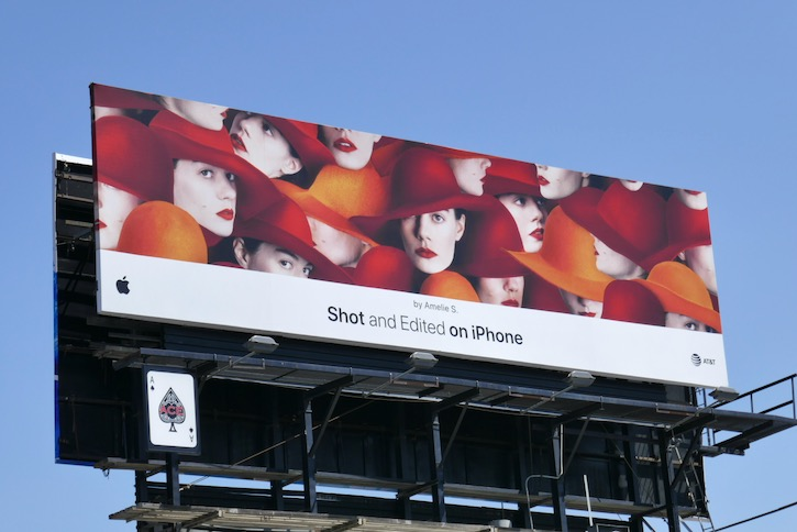Shot and Edited on iPhone Amelie S billboard
