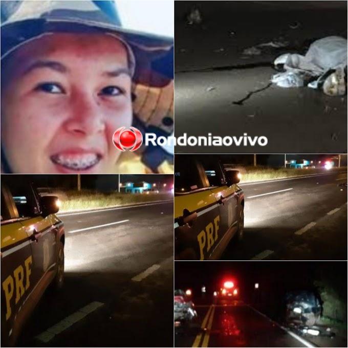 TRAGÉDIA: Passageira de motocicleta morre após grave acidente na BR-319 em Porto Velho