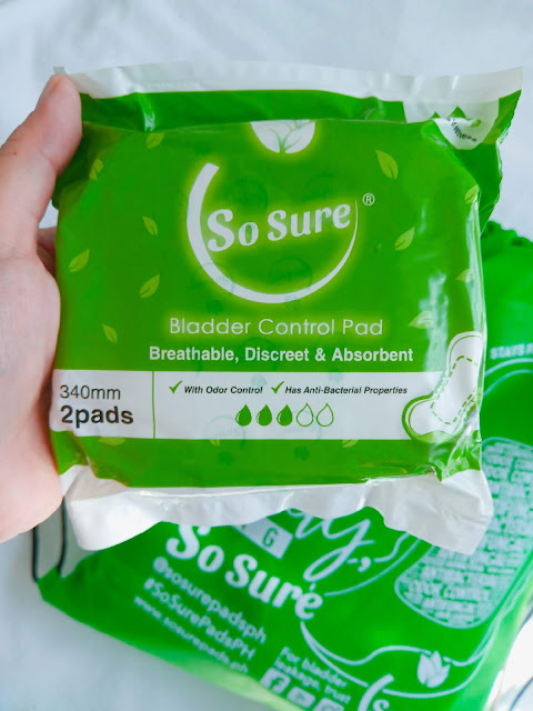 So Sure Bladder Control Pads, So Sure, Product Review, Urinary Incontinence, Pregnancy, Menopause, Overweight, Hysterectomy, UTI, BPH, SJ Valdez, All-Around Pinay Mama blog