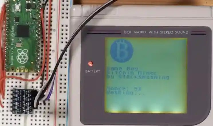 This YouTuber mined a game boy with bitcoin