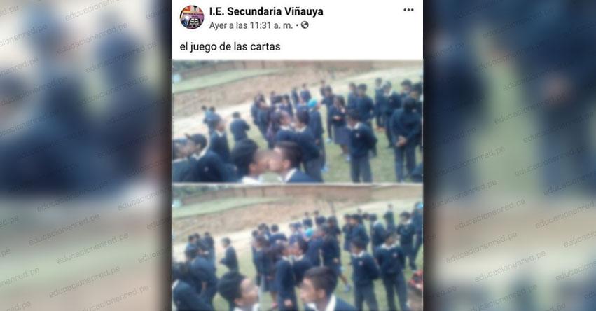 Denuncian polémico juego entre escolares en colegio de Áncash