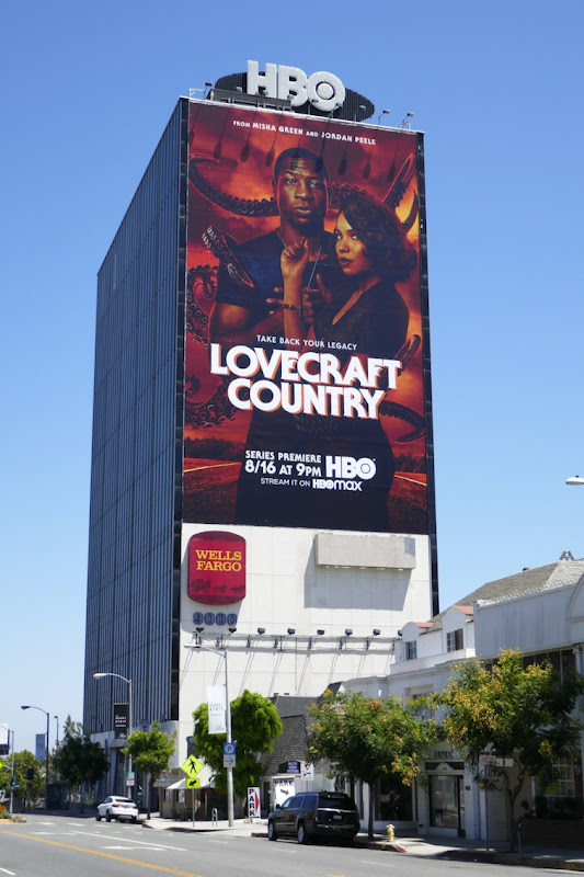 Giant Lovecraft Country series launch billboard