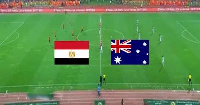 مباراة مصر واستراليا بث مباشركورة لايف