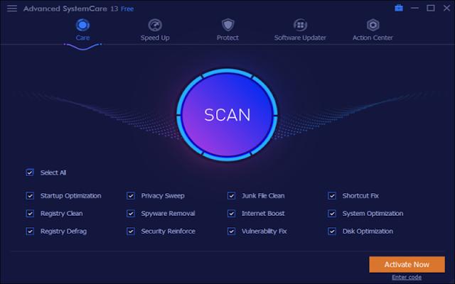 Advanced SystemCare Pro 13.0.2.170 + crack - Phần mềm tối ưu hóa hệ thống