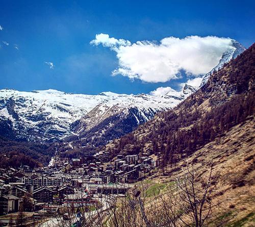 Wanderung Ausblick auf Zermatt