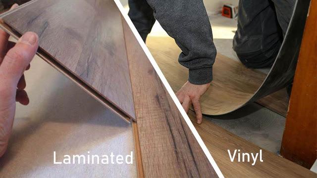 lantai vinyl dan lantai laminated