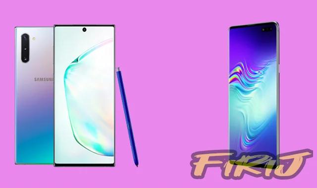 Comparaison entre Samsung Galaxy Note 10 Plus 5G contre Galaxy S10 Plus 5G