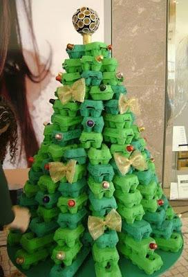 Pohon Natal dari Box Telur