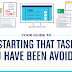 Your Guide to Starting That Task You Have Been Avoiding #infographic
