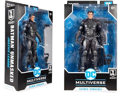 "Entertainment Earth Exclusive Zack Snyder's Justice League Unmasked Batman Bruce Wayne 7"" DC Multiverse Action Figure by McFarlane Toys"