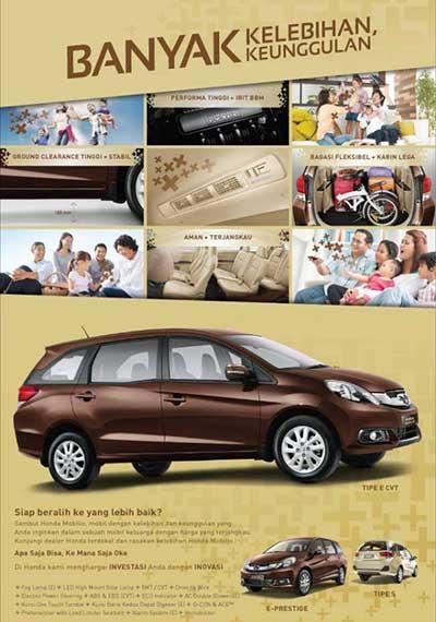 Jual Honda Mobilio Bandung 2016