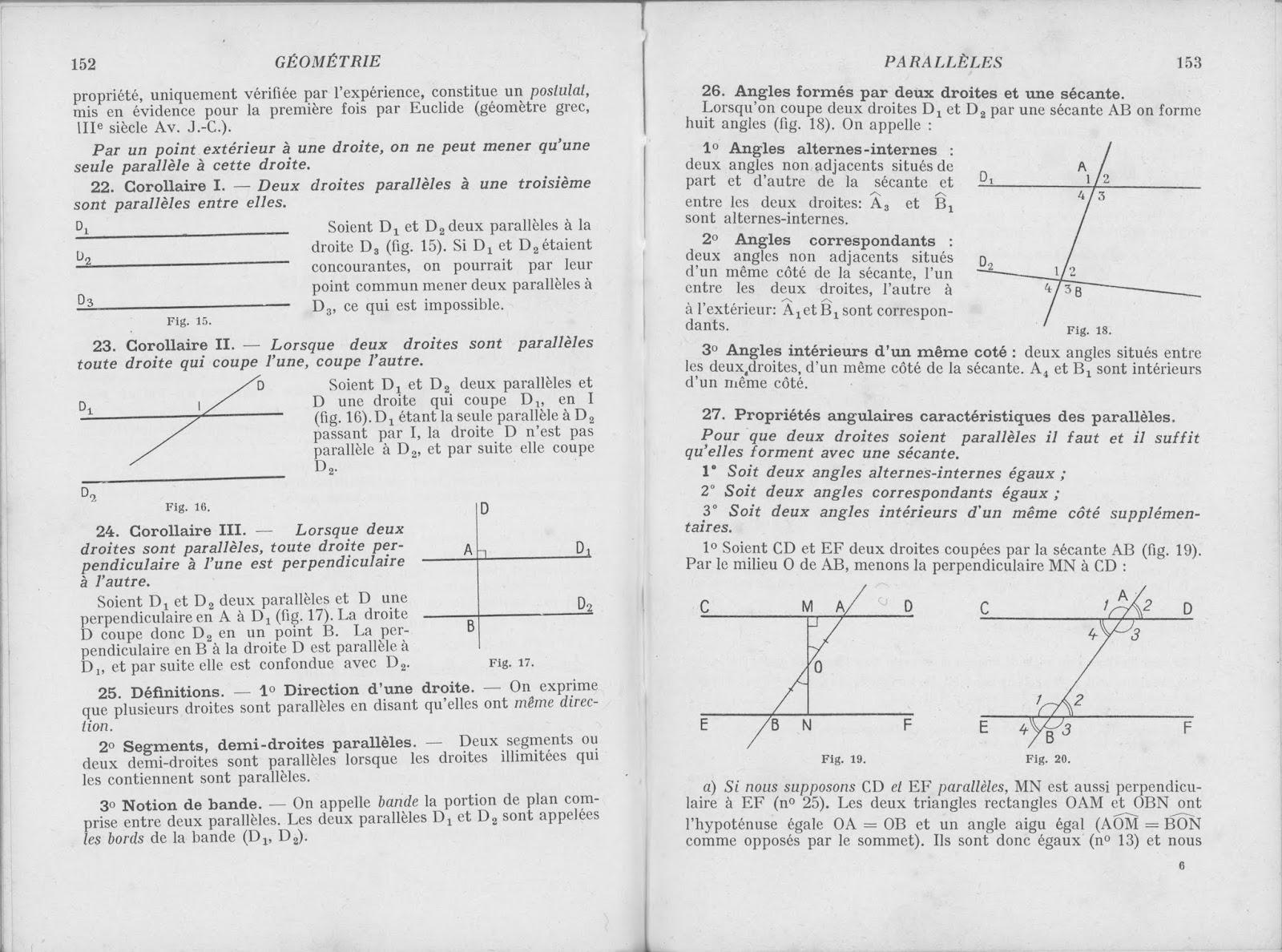 Droites parallèles et perpendiculaires Cm2 Exercices à imprimer