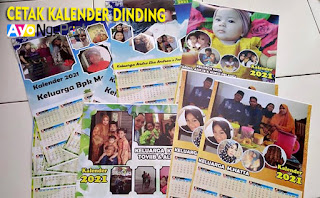 cetak kalender satuan foto keluarga murah di Cabangbungin, Bekasi
