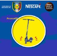 Concorso Nescafé e LIDL : vinci monopattini elettrici