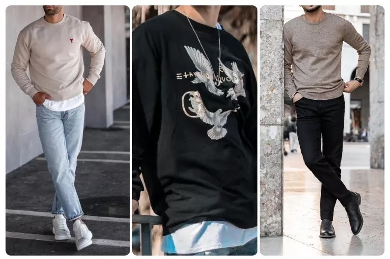 Different Ways to Style Men's Sweatshirts.