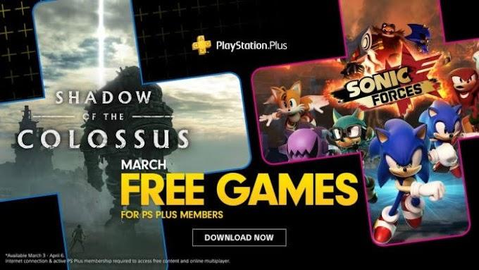 Shadow Of The Colossus e Sonic Force são os jogos da PS Plus para Março