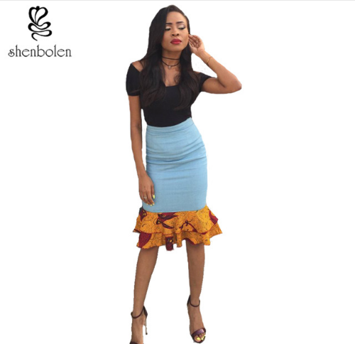 pictures of Ankara skirts and blouse designs