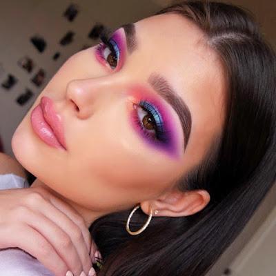 Maquillaje bonito colorido