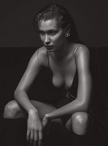 Bella Hadid topless photoshoot for V magazine