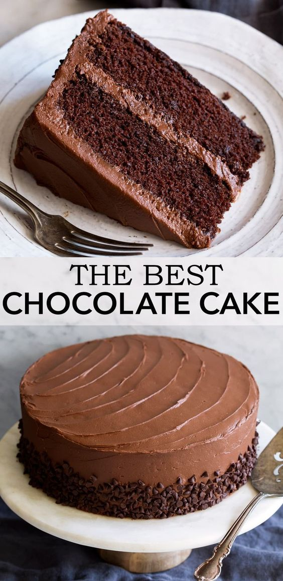 Easy Chocolate Cake with Chocolate Buttercream Frosting