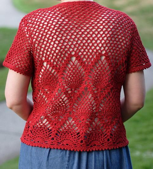Crochet jacket with Patterns - Spring-Summer