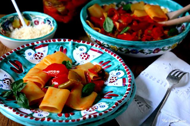 Pasta mit Sommer aus dem Glas: Schiaffoni alla Ciambottella