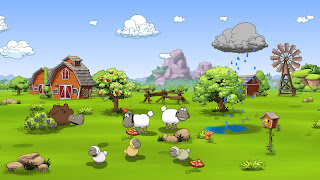 Clouds and Sheep 2 Computer Wallpaper