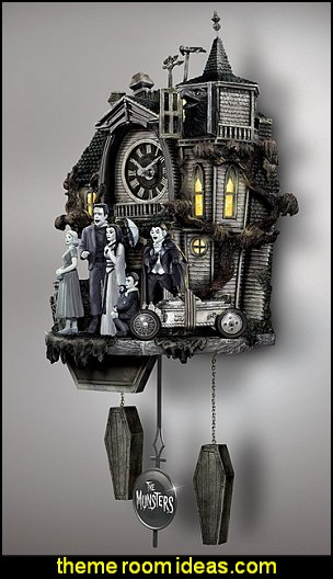 The Munsters Cuckoo Clock with Flickering Lights and Music by The Bradford Exchange