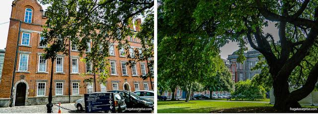 Edifícios de alojamentos no campus do Trinity College, em Dublin