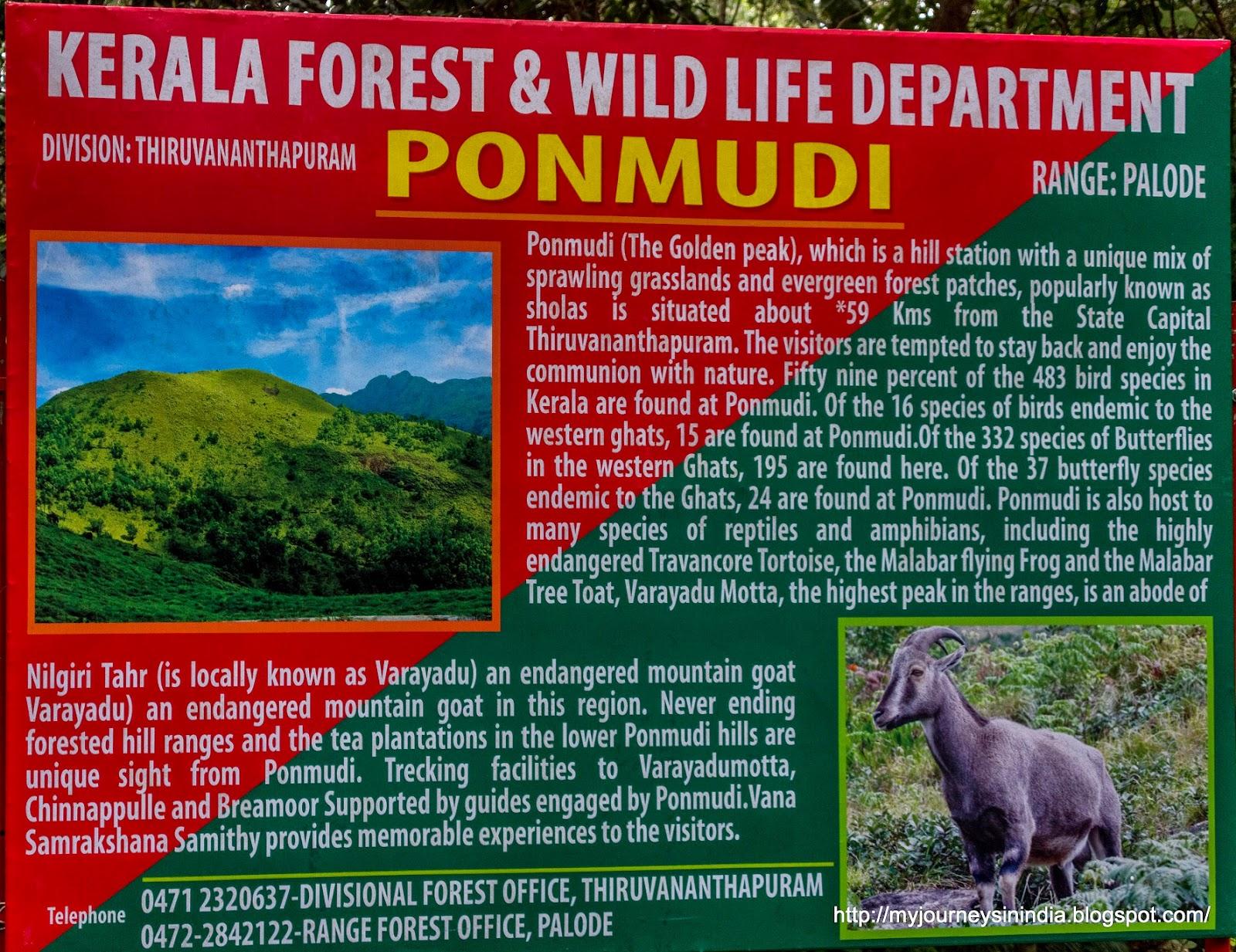 Ponmudi Details