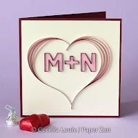 Quilling Letter M N Monogram Tutorial Pattern