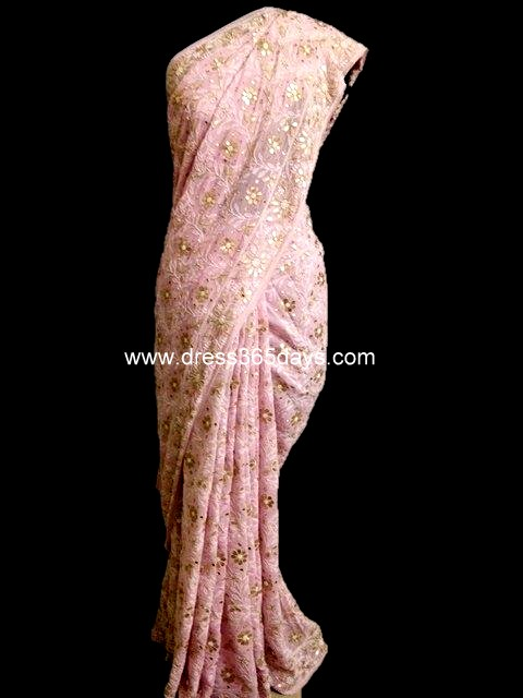 Pink Wedding Saree