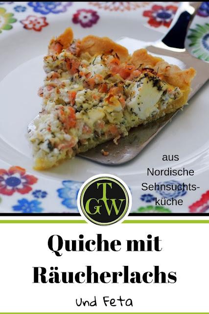 {Buchwerbung} Quiche mit Räucherlachs aus Nordische Sehnsuchtsküche #quiche #quichemiträucherlachs #räucherlachs #meerrettich #ziegenkäse #schwedischkochen - Foodblog Topfgartenwelt